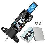 Audew Medidor De Profundidad de los Neumáticos Digital LCD Tyre Tread Depth Gauge Negro LCD Digital Desgaste Disco De Freno 0-25mm