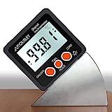 AUTOUTLET Inclinómetro Digital Protractor 4 * 90 ° Nivel Buscador de ángulos de Caja Retroiluminación Indicador de nivel Indicador de bisel con base magnética IN/FT, mm/m