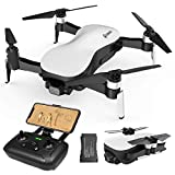 EACHINE EX4 Drone con Camara 4k GPS Profesional 25Minutos 3KM RC Distancia 21.6km/h Alta Velocidad Drone Gimbal 3 Ejes Brushless Drone FPV Drone con Cmara para Adultos Blanco