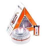 HELP FLASH 1X_YR-42WR-PIOM luz de Emergencia AUTÓNOMA, señal preseñalización de Peligro y Linterna, homologada, normativa DGT, V16, con Base imantada, activación AUTOMÁTICA, Hecho en España, 1 Unidad