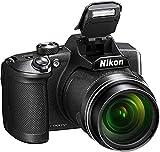 "Nikon Coolpix B600-Cámara Bridge de 16 MP (Zoom óptico 60x, Pantalla 3"", conexión snapbridge, WiFi, Full HD 1080/30p) Version Kit Nikonistas (Estuche, Tarjeta SD y Libro) Negro"