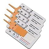 4 Piezas Medidor de Profundidad de la Banda de Rodadura del Neumático Rango 0-20mm,Profundidad Ajustable de la Banda de Rodadura (Naranja)