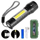 GOLDGE Linterna LED Alta Potencia Linternas para Ciclismo Camping, Portátil Linterna 500 Lúmenes 3 Modos USB recargable Linterna de Alto Rendimiento para Montañismo Reparación del Coche